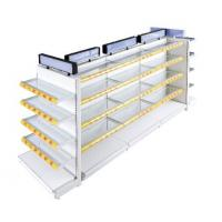 China Wall Glass Panel Supermarket Display Fixtures For Cosmetics / Beverage wholesale