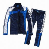 China Tracksuit/Sportswear, Made of 100% Polyester and Long Sleeves Design, Breathable wholesale
