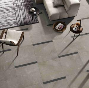China Beige Modern Bathroom Floor Tile / Slip Proof Cream Polished Porcelain Tiles on sale