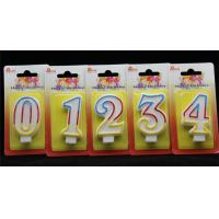Best Selling-Factory Handmade Birthday Candles with 3 colors Edge with Origin holder