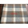 China Hot sale 70% wool 920g/m 610GSM Eco - Friendly Wool 8-11cm Big Plaid Fabric / Tartan caramel wholesale