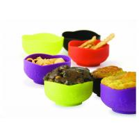 Household Food Grade Silicone Bowl For Dishwasher / Microwave , Heat - Resistant