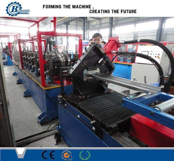 Quality CNC Automatic Metal Window Frame Roll Forming Machine With 8-12m/min High Speed for sale