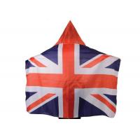 China Australia Usa Flag Cape Wearable Kintted Polyester Nylon High Fastness wholesale