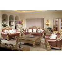 China Joyful Ever Furniture Classic Luxury Leather Sofa set by Hand carving for Reception room wholesale