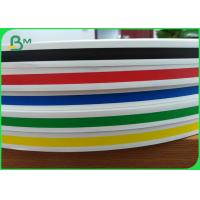 China Red Blue Yellow Green Striped Drinking straws Paper Raw Material Rolls 60gsm wholesale