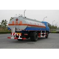 Dongfeng Oil Tank Truck 4x2 12.6CBM , Liquid Tanker For Gas Stations