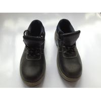 China Buffalo Leather Industrial Safety Shoes With PU Injection / Rubber Outsole wholesale