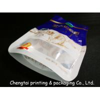 China Eco - Friendly BOPP Compound Shaped Pouches With Transparent Window Gravure Printing on sale