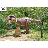 China Handmade Eyes Blink Dinosaur Lawn Ornament , Life Size Model Dinosaurs wholesale