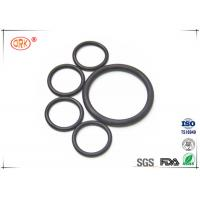 China Flat Rubber Black FPM FKM O Rings Fluorelastomer With RoHs Heat Resistance wholesale