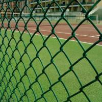 PVC Diamond Chain Link Fence , Privacy Weave Chain Link Fabric Fence