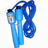 China Digital Jump Rope with Adjustable Length, Counts Step, Made of Plastic Handle wholesale