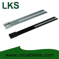 China PVC coated Ladder Type Stainless Steel Cable Ties on sale