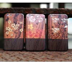 Buy cheap La caja de madera Iphone 5, iPhone 6S Iphone de bambú del teléfono cubre el caso con colores múltiples from wholesalers
