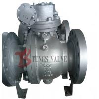 China Flanged Trunnion Soft Seated Ball Valve , Cast Steel WCB WCB Ball Valve Split Body wholesale