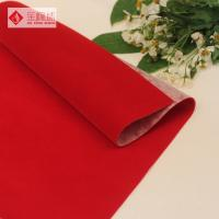 China Nonwoven Plain Flocked Velvet Fabric Polyester Red Knitted wholesale