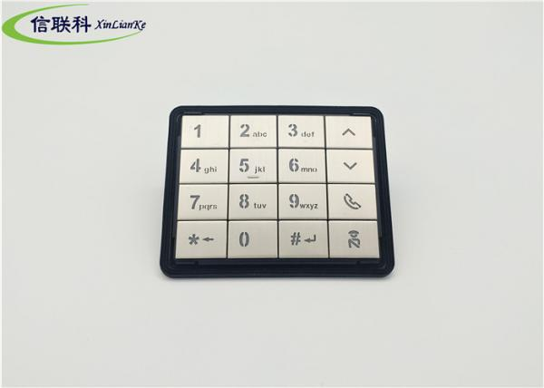 Quality High Grade Silicone Numeric Keypad Stain Steel Key Top Laser Method Display for sale
