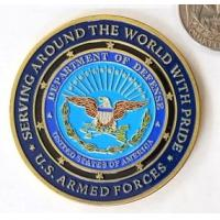 China USA Department Military Challenge Coins Soft Enamel For Decorations Gold Plating wholesale
