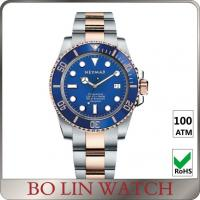 Swiss 2824 Movement Blue Dial Dive Watches , Classic Design Sapphire Crystal Watch