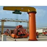 China Light Capacity Jib Crane 5 Ton Pillar Column Mounted 360 Degree Swing Machine on sale