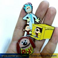 China ADDGIFTS cute enamel lapel pins custom badge with backwords cheap price wholesale