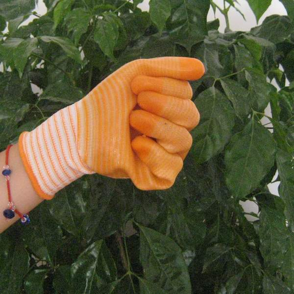 Quality yellow PVC coated working gloves PG1511-3 for sale