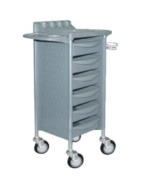Quality 6 layers Four Wheeled Beauty Hairdresser Salon Towel Trolley Cart for sale