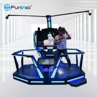 China Black 220V 9D VR Space Walk Virtual Reality Boxing Game Ride For Amusement Park wholesale
