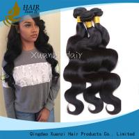 100% Malaysian Hair Weave Bundles , Permanent Body Wave Hair No Tangling for sale