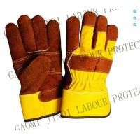 China 10.5''leather safety working gloves wholesale