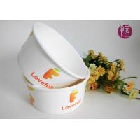 12 Ounce Shallow Ice Cream Paper Bowls With Plastic Lid / Custom Print
