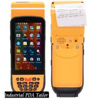 China Industrial Phone Pos Terminal Android Barcode Scanners And Handheld Thermal Printer In One on sale