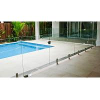 China Transparent Outdoor Glass Fence , Fully Frameless Glass Pool Fencing wholesale