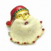 China Christmas Brooches, Export Alloy Product, OEM and ODM are Welcome wholesale