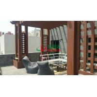 China Wood plastic composite Customized Pergola construction project Environmental Friendly in Kuwait wholesale