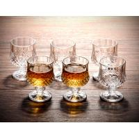 China Vodka 180ml Colored Whiskey Glasses With Stand Wine Juice Liquid Custom Made on sale