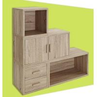 China Adjustable Light Wooden Book Case , Bookshelf With Doors/ Drawers wholesale