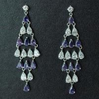 China Bridal Crystal Chandelier 925 Sterling Silver Earrings, OEM and ODM Orders Welcomed wholesale