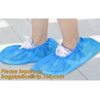 China Disposable colorful antistatic PE CPE PP SMS Microporous shoe cover good quality low price waterproof shoe bagease pack on sale