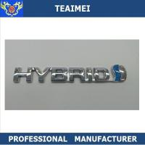 China Custom 3D ABS Chromed Car Letter Emblems Auto ABS Badge Stickers Car Emblems wholesale