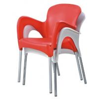 China stackable dining arm chair stackable plastic metal chair stackable party arm chair wholesale