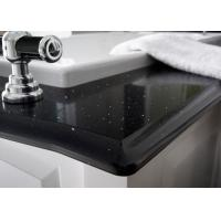 China Black Glossy Natural Quartz Stone Countertops For Kitchen Table wholesale