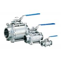 China Full Port 3 Piece Stainless Steel Ball Valve , Gas / Water 1 / 4 Inch Ss Ball Valve wholesale