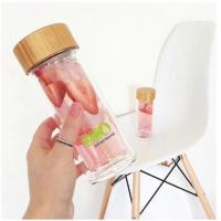 China Professional Sports Glass Water Bottle With Infuser And Tea Strainer wholesale