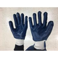 China Construction Cotton Work Glove / Latex Surface Mens Gardening Gloves on sale