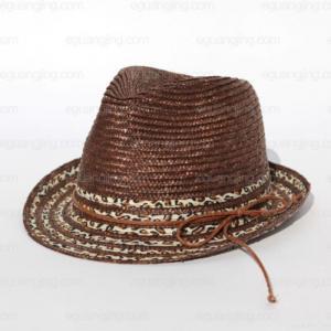 China Men Hand-made Panama Fedora Straw Hat(bn431) wholesale