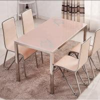 China Multi Functional Glass Top Dining Room Table , Practical Marble Dining Table on sale