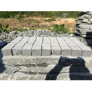 China Dark Grey Granite Paving Stones Exterior Decoration Eco - Friendly wholesale