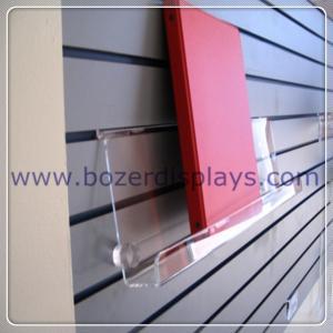 China Clear Acrylic Slat-wall Book Shelves 6 tall x 2 depth x 9 long on sale